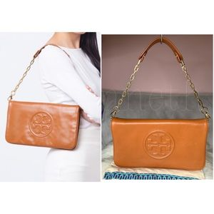 Authentic Tory Burch Bombe Reva Clutch Bag-